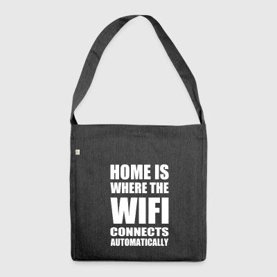 wifi home - Shoulder Bag made from recycled material