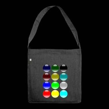 maler painter pinsel paint farbe artist color colo - Schultertasche aus Recycling-Material