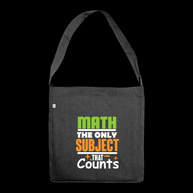 Math gift for math teacher - Shoulder Bag made from recycled material