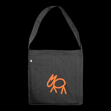 Stone Age painting - Shoulder Bag made from recycled material