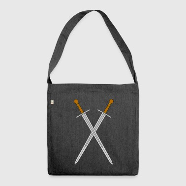 Two crossed swords - Shoulder Bag made from recycled material