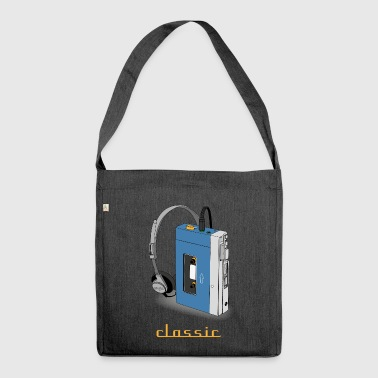 CLASSIC-WALKMAN retro design, blue - Shoulder Bag made from recycled material