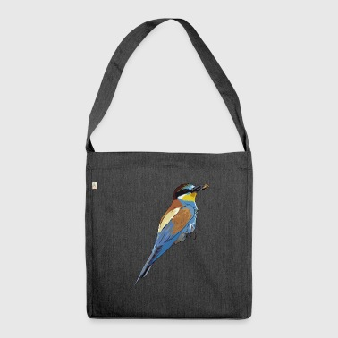 Beautiful bird with bee in the beak - Shoulder Bag made from recycled material