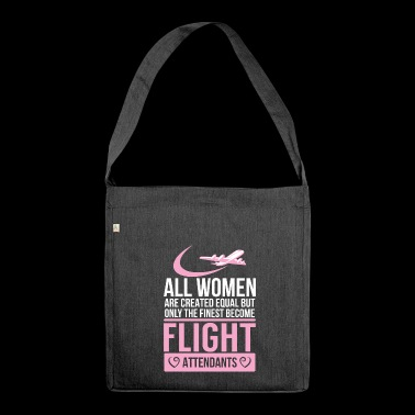 Flight attendant - flight attendant - stewardess - - Shoulder Bag made from recycled material