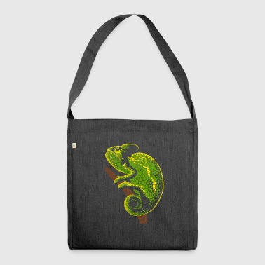 Chameleon reptile - Shoulder Bag made from recycled material