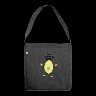 Lemon that is not sour - Shoulder Bag made from recycled material