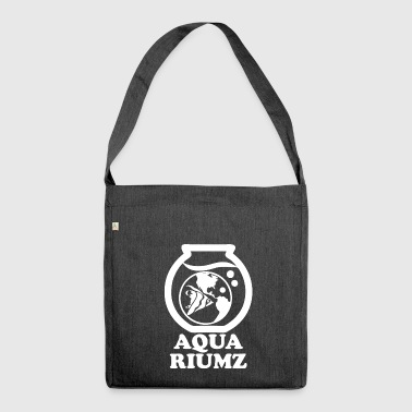 aquarium wite - Shoulder Bag made from recycled material