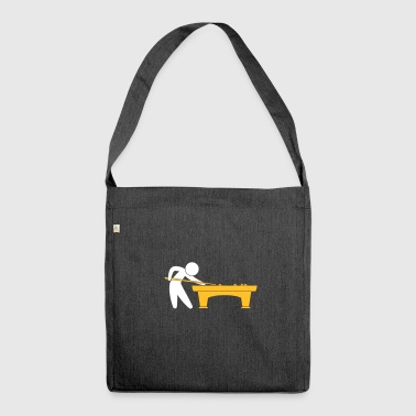 A Pool Player Is On The Pool Table - Shoulder Bag made from recycled material