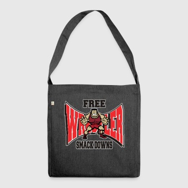 Wrestling Funny Wrestler Free Smack Downs - Shoulder Bag made from recycled material