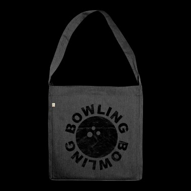 Bowling bowling ball bowling - Shoulder Bag made from recycled material