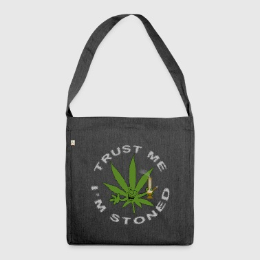 Funny Stoned Weed Cannabis Marijuana Leaf - Shoulder Bag made from recycled material