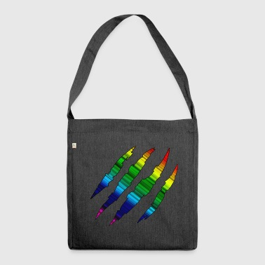 Rainbow Scratch Track - Schultertasche aus Recycling-Material
