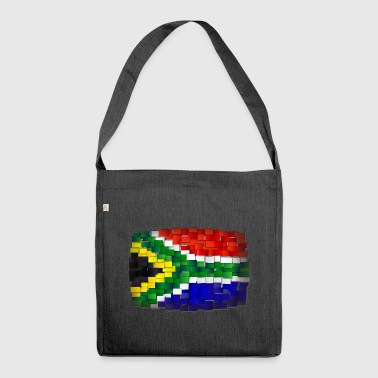 Flagge Südafrika - Schultertasche aus Recycling-Material