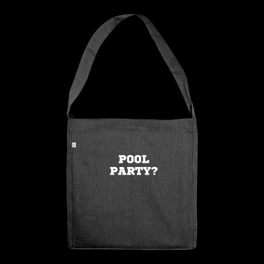 Pool Party - Schultertasche aus Recycling-Material