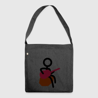 Guitarist at the campfire - Shoulder Bag made from recycled material