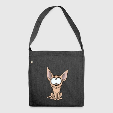 Ich bin Chihuahua - Creme - Schultertasche aus Recycling-Material