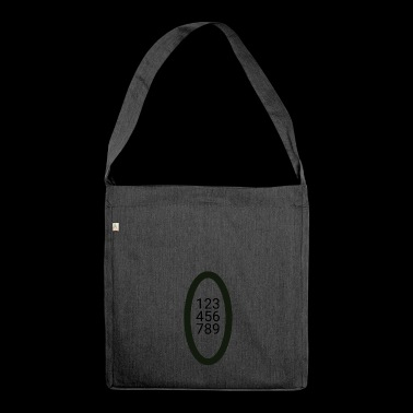 numbers - Shoulder Bag made from recycled material
