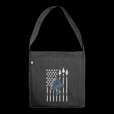 Native American flag nativi americani - Borsa in materiale riciclato