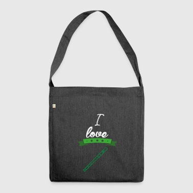I love flute recorder gift I love - Shoulder Bag made from recycled material