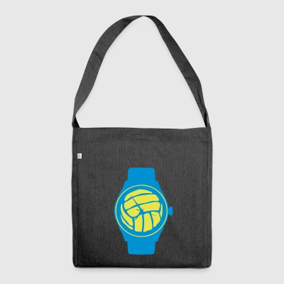 waterpolo volleyball balloon wristwatch - Shoulder Bag made from recycled material