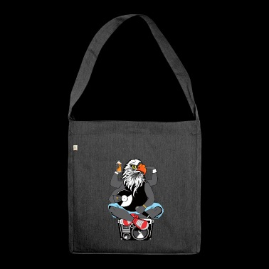 Rapper eagle head ghettoblaster old school hip hop - Shoulder Bag made from recycled material