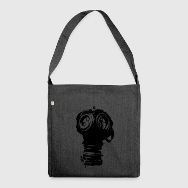 Gas-mask2 - Schultertasche aus Recycling-Material