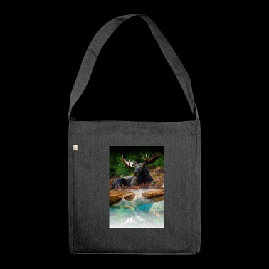 deer posters - Shoulder Bag made from recycled material
