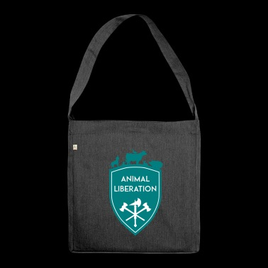 ANIMAL LIBERATION SHIELD - Schultertasche aus Recycling-Material