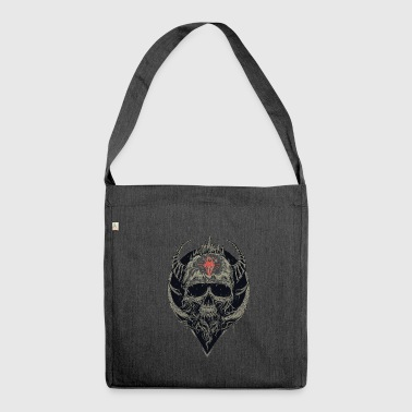 Skull with horns - Shoulder Bag made from recycled material