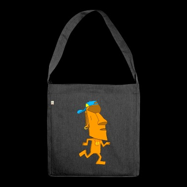 Moai rapper - Shoulder Bag made from recycled material