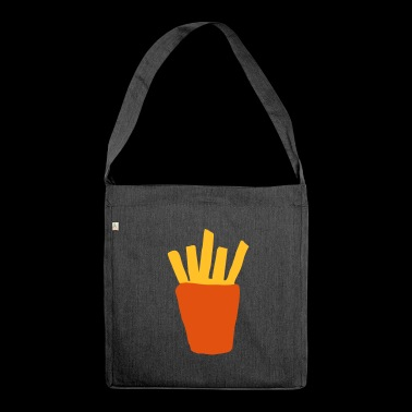 French fries with ketchup and mayo - Shoulder Bag made from recycled material