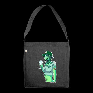 Absinth Pinup - Schultertasche aus Recycling-Material