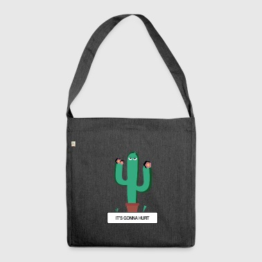 "CACTUS - ""Es wird weh tun"" - Schultertasche aus Recycling-Material"