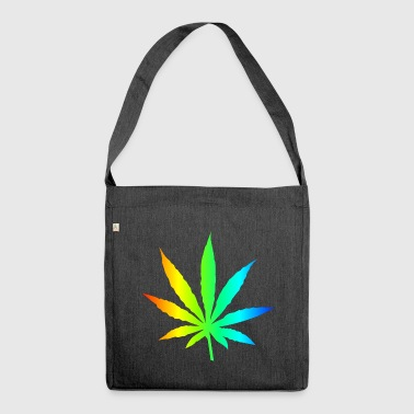 Marijuana Leaf Rainbow - Shoulder Bag made from recycled material