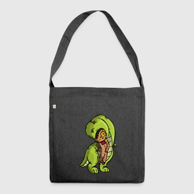Dinosaurier vodoo - Schultertasche aus Recycling-Material