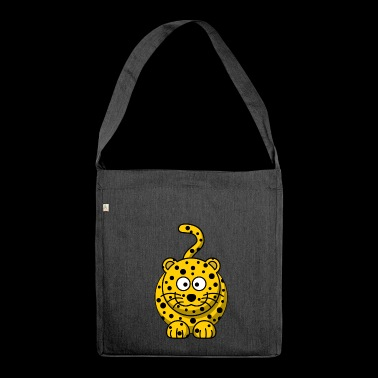 Leopard Cartoon - Schoudertas van gerecycled materiaal