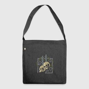 Skulls in Chains - Shoulder Bag made from recycled material
