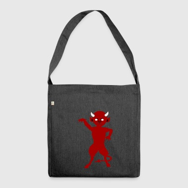 satan devil devil evil bright hell lucifer - Shoulder Bag made from recycled material