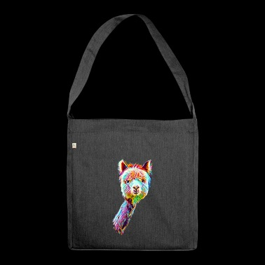 Psychedelic Lama - Shoulder Bag made from recycled material