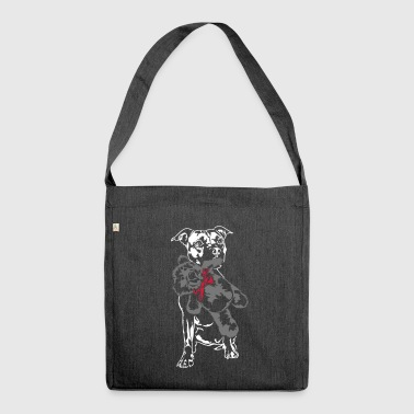 Staffordshire with Teddy - Shoulder Bag made from recycled material