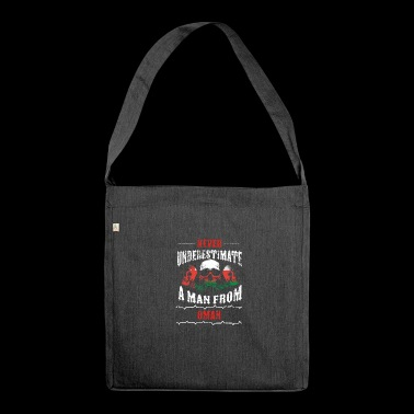 never underestimate man OMAN - Shoulder Bag made from recycled material