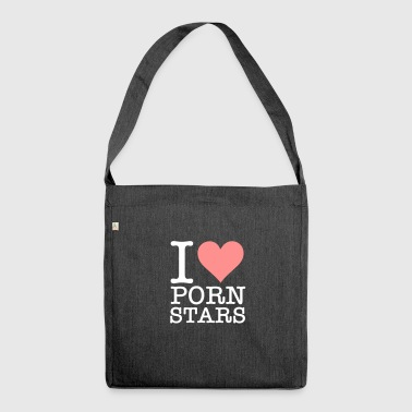 I Love Pornstars! - Shoulder Bag made from recycled material
