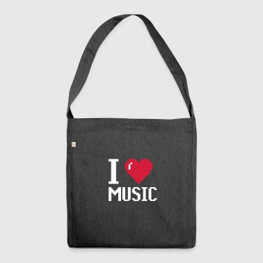I Love MUSIC - musik - Schultertasche aus Recycling-Material