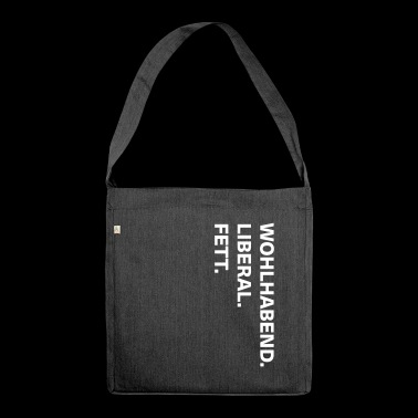 wealthy liberal fat - Shoulder Bag made from recycled material