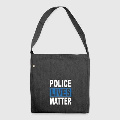 POLICE LIVES MATTER - Shoulder Bag made from recycled material