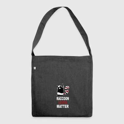 Raccoon Lives Matter - Shoulder Bag made from recycled material