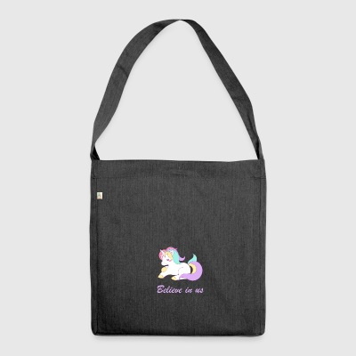 Believe in unicorns - Shoulder Bag made from recycled material