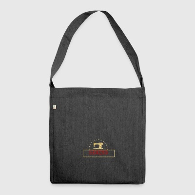 Sewing machine design - Shoulder Bag made from recycled material