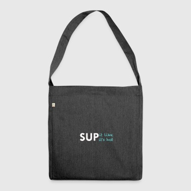 SUP white - Shoulder Bag made from recycled material