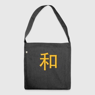 Chinese Words: Peace - Shoulder Bag made from recycled material